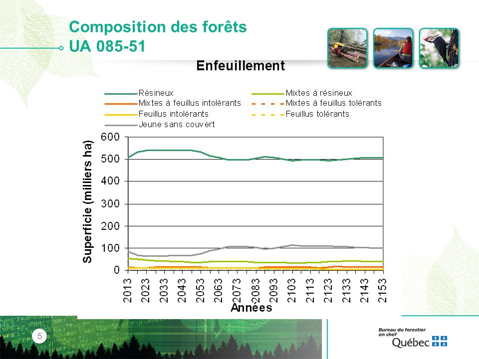 Composition des forêts UA 085-51