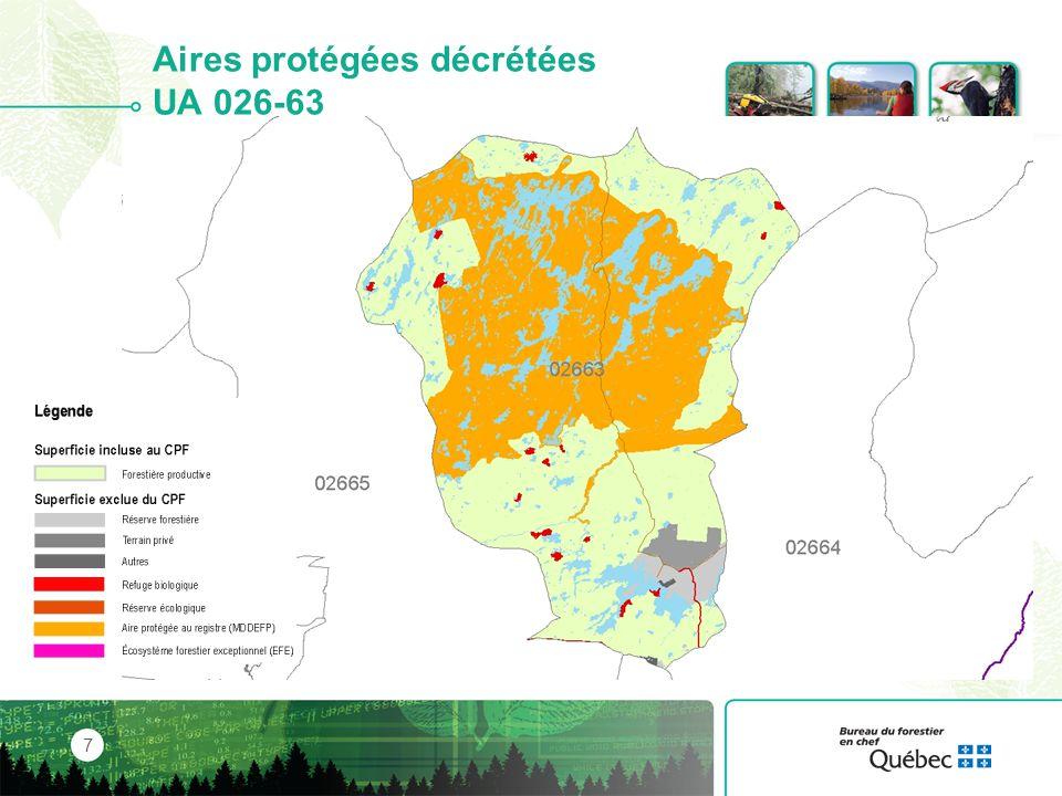 Aires protégées décrétées UA 026-63