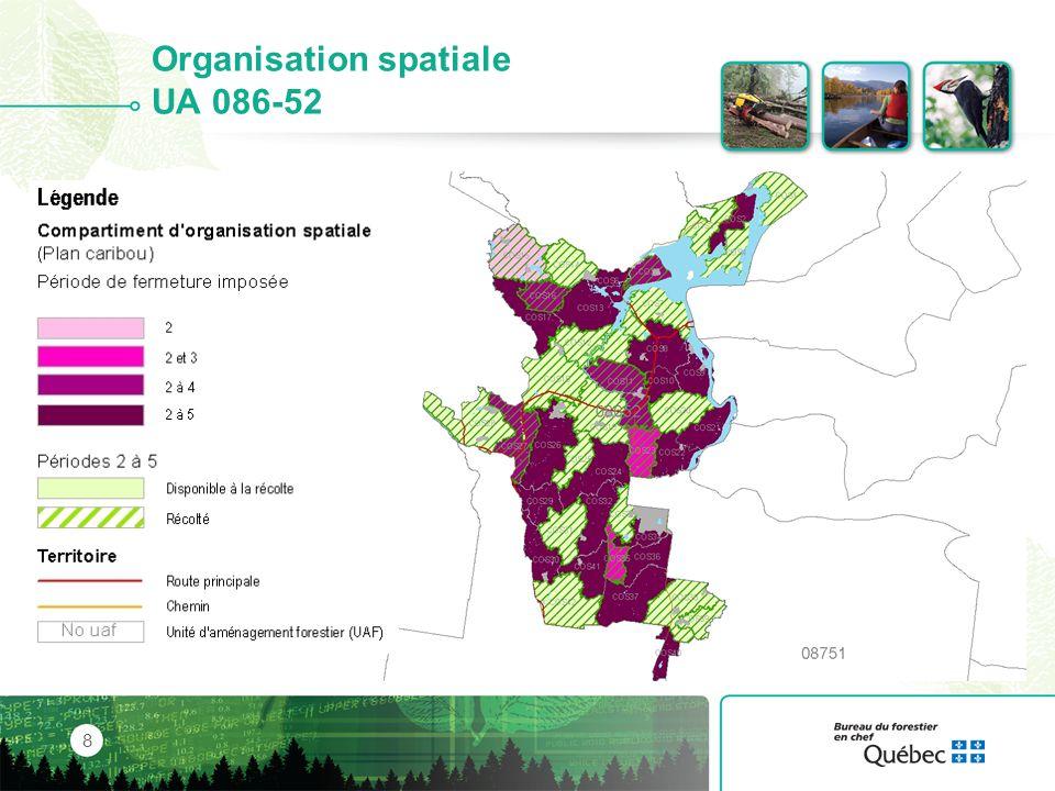 Organisation spatiale UA 086-52
