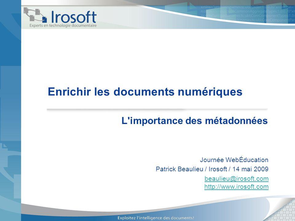 Enrichir les documents numériques