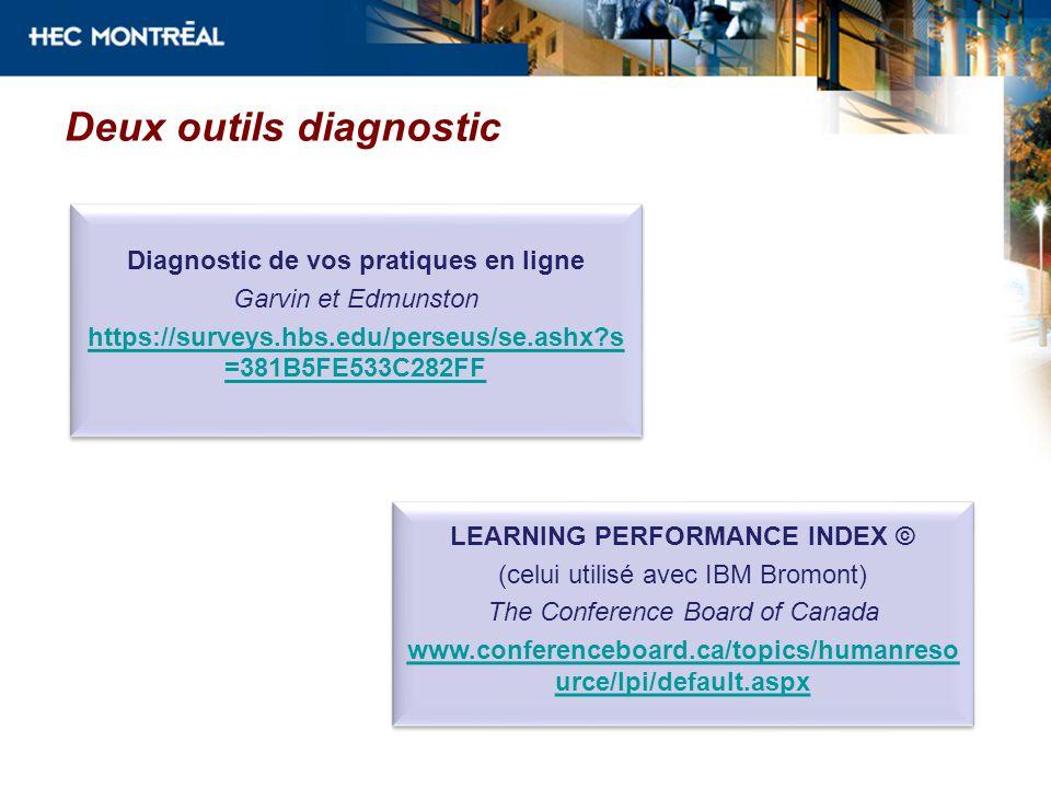 Deux outils diagnostic