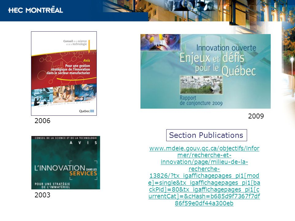 2009 2006. Section Publications.