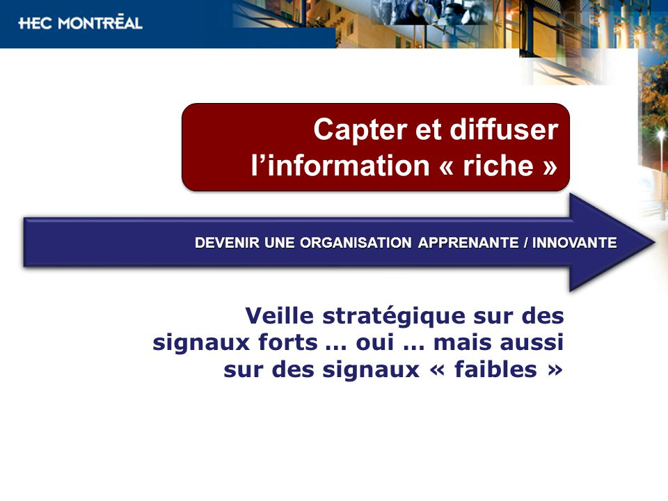 Capter et diffuser l'information « riche »
