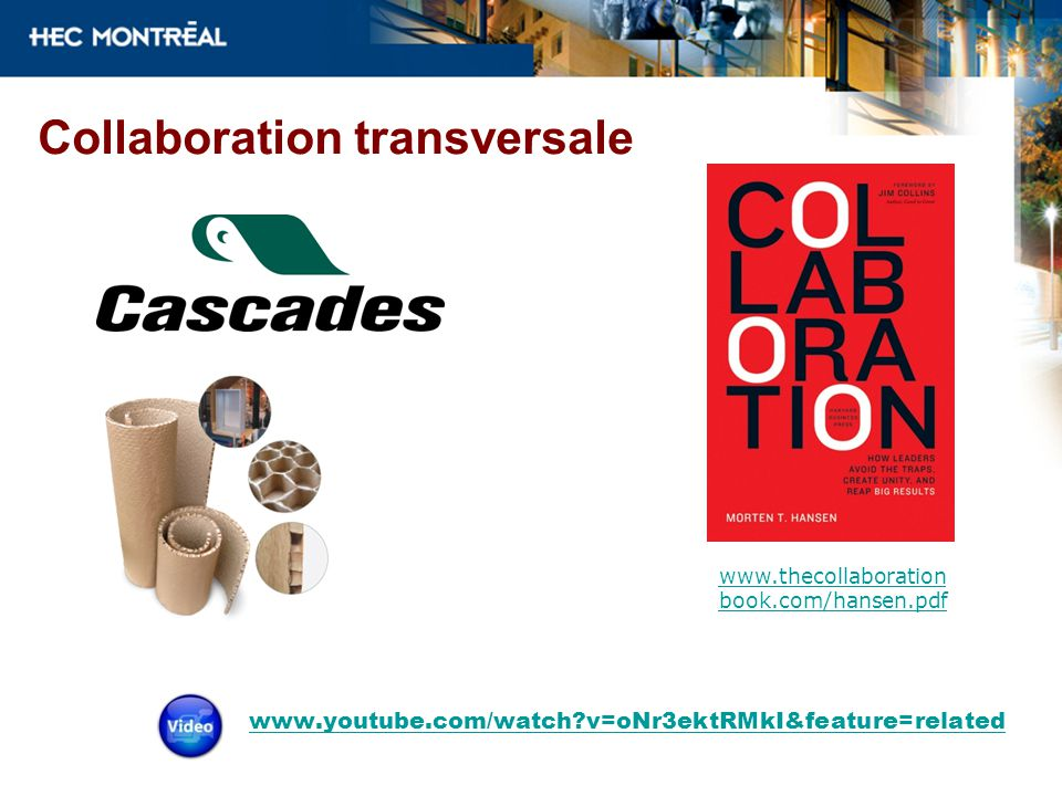Collaboration transversale