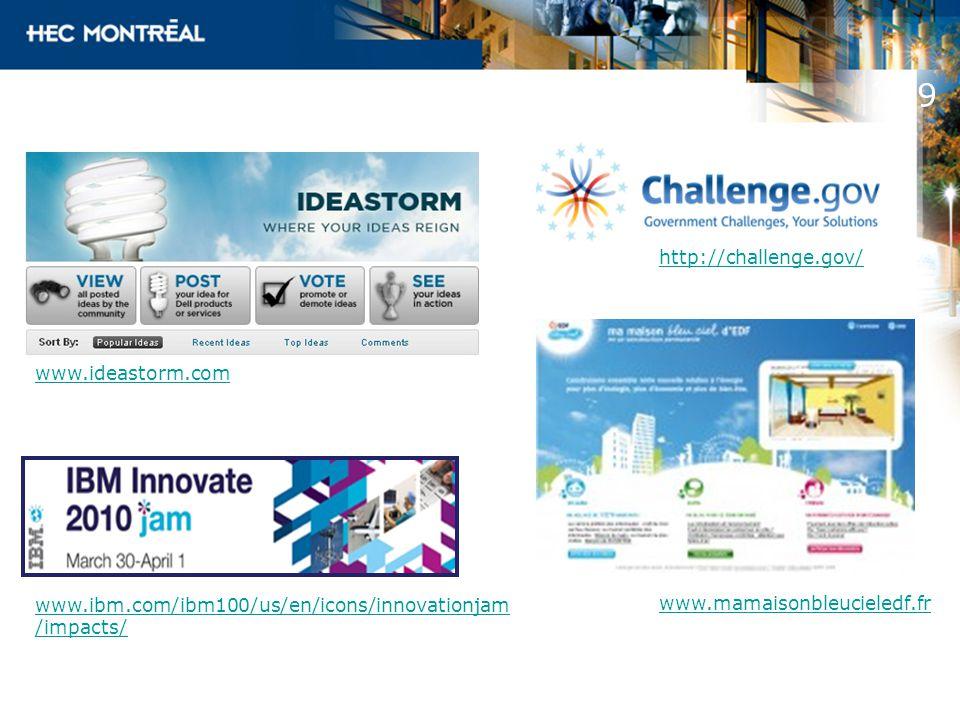 9 http://challenge.gov/ www.ideastorm.com www.mamaisonbleucieledf.fr