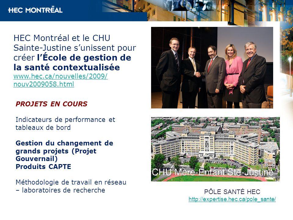 HEC Montréal et le CHU Sainte-Justine s'unissent pour créer l'École de gestion de la santé contextualisée