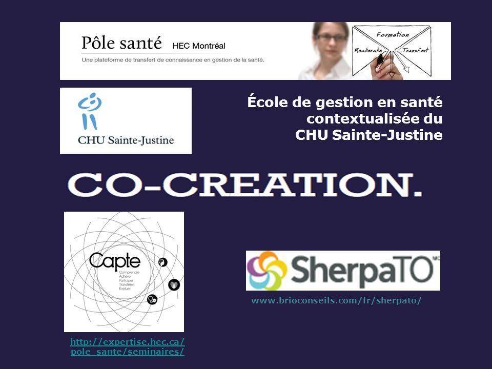 École de gestion en santé contextualisée du CHU Sainte-Justine