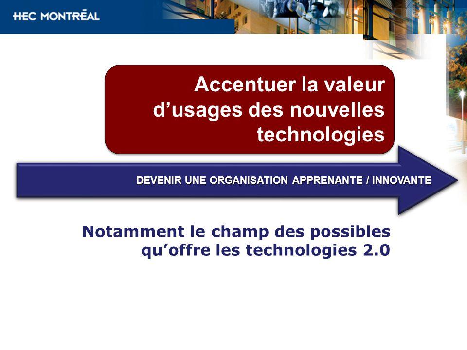 Accentuer la valeur d'usages des nouvelles technologies