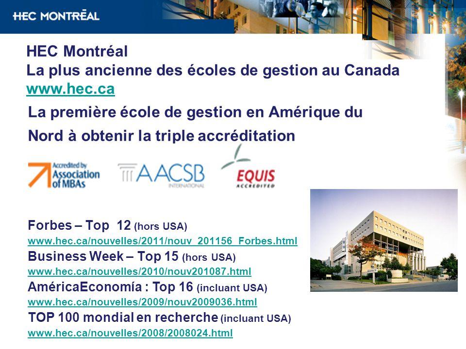 La plus ancienne des écoles de gestion au Canada www.hec.ca