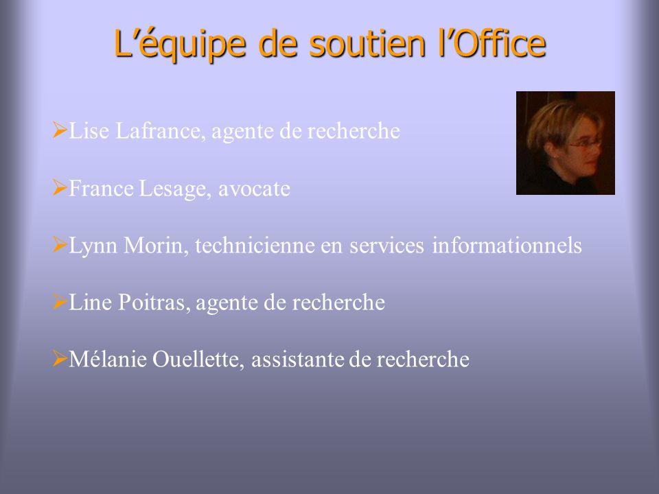 L'équipe de soutien l'Office