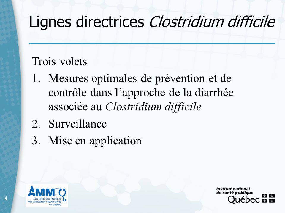 Lignes directrices Clostridium difficile