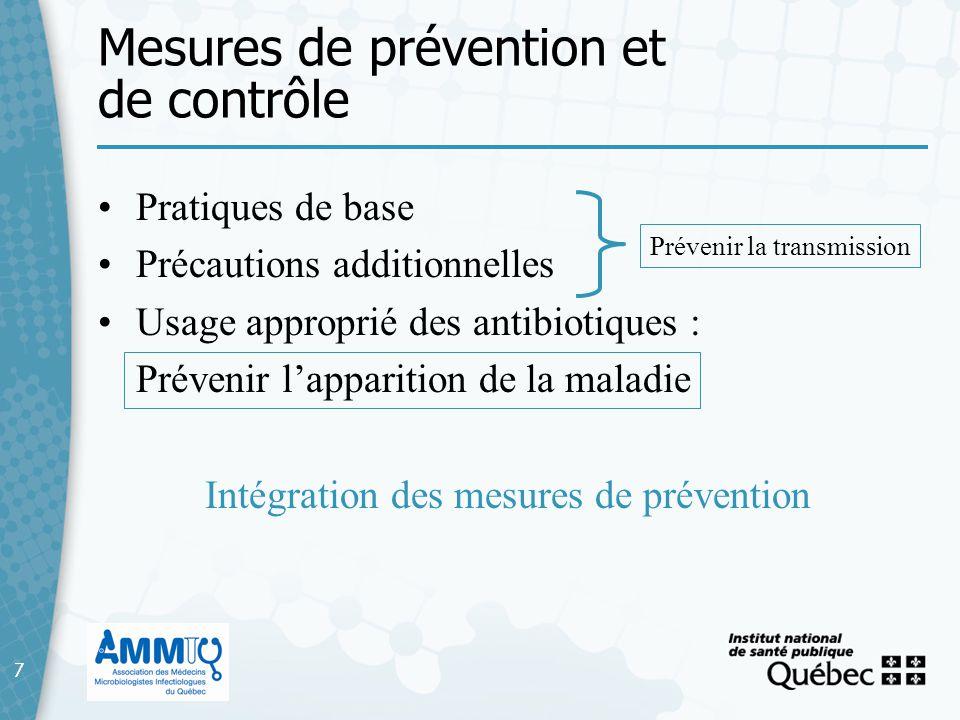 Mesures de prévention et de contrôle