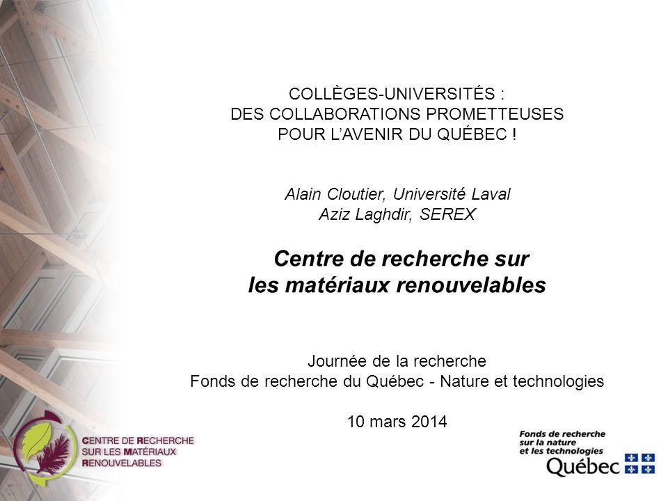 Centre de recherche sur les matériaux renouvelables