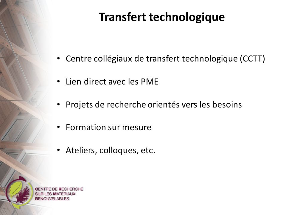Transfert technologique