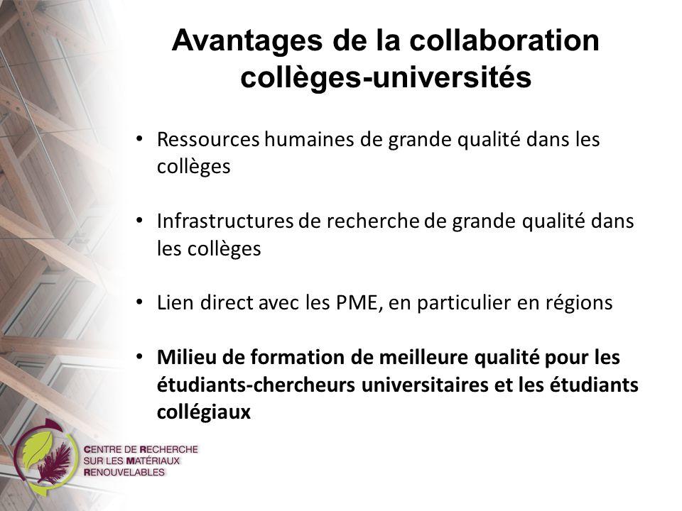Avantages de la collaboration collèges-universités