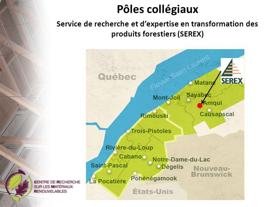 Pôles collégiaux Service de recherche et d'expertise en transformation des produits forestiers (SEREX)