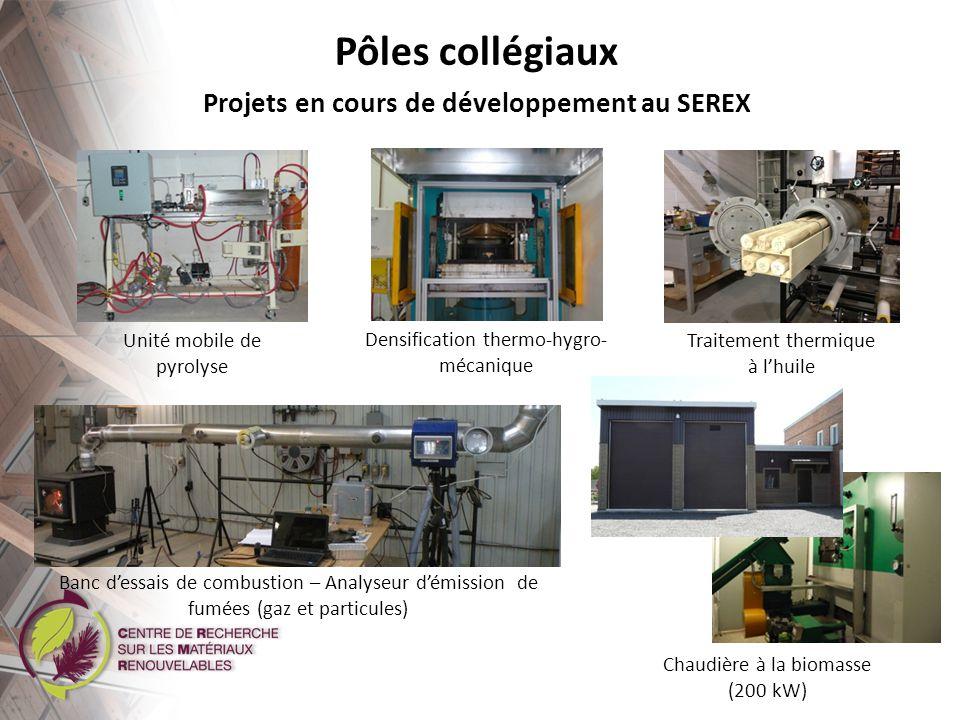 Projets en cours de développement au SEREX