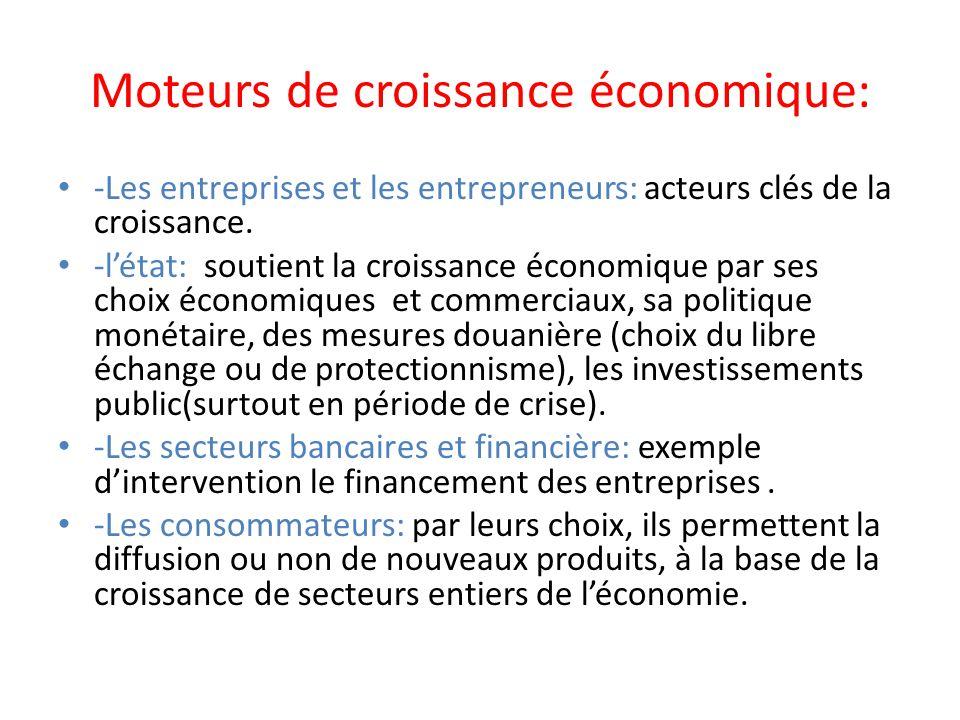 Moteurs de croissance économique: