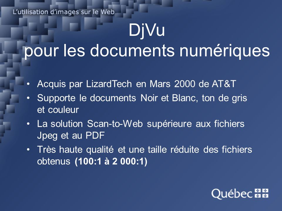 DjVu pour les documents numériques