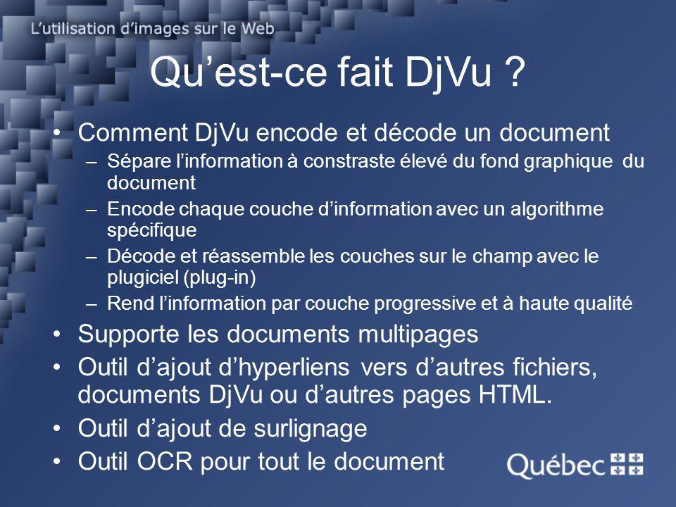 Qu'est-ce fait DjVu Comment DjVu encode et décode un document