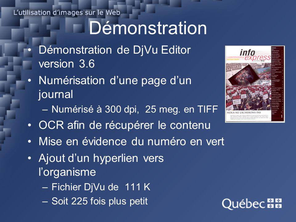 Démonstration Démonstration de DjVu Editor version 3.6