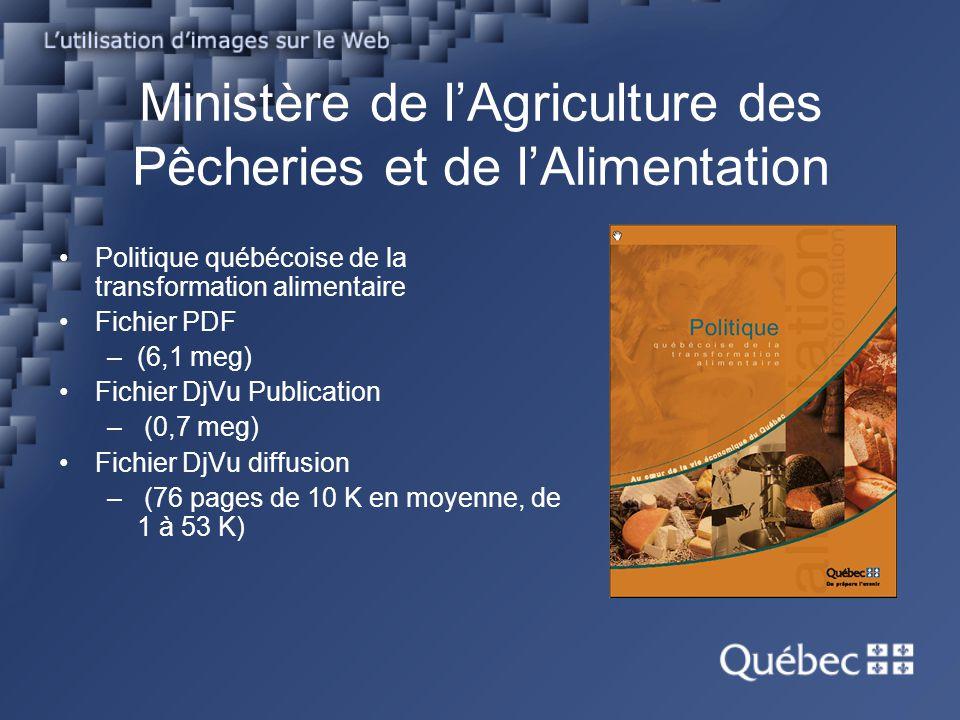 Ministère de l'Agriculture des Pêcheries et de l'Alimentation
