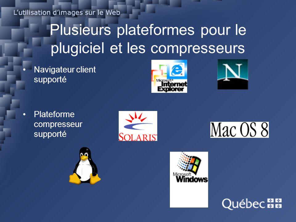 Plusieurs plateformes pour le plugiciel et les compresseurs