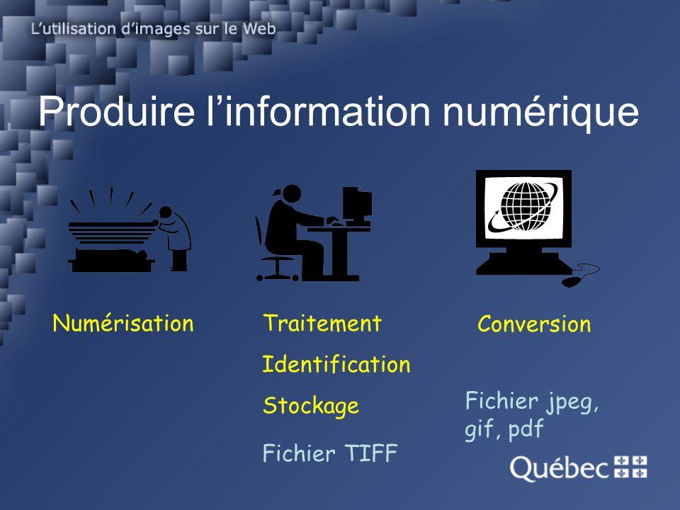 Produire l'information numérique