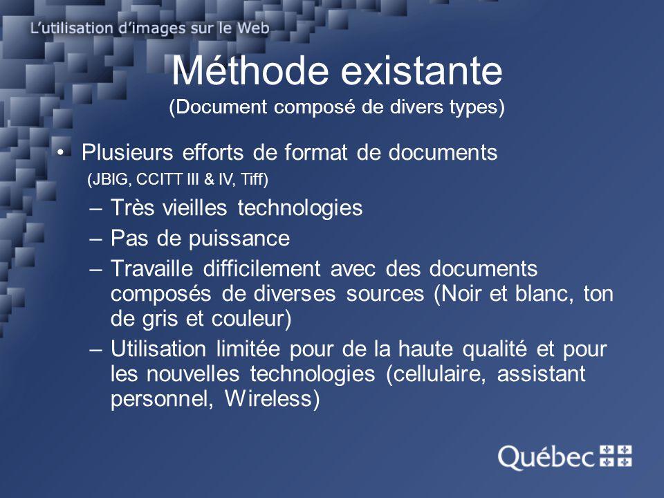 Méthode existante (Document composé de divers types)