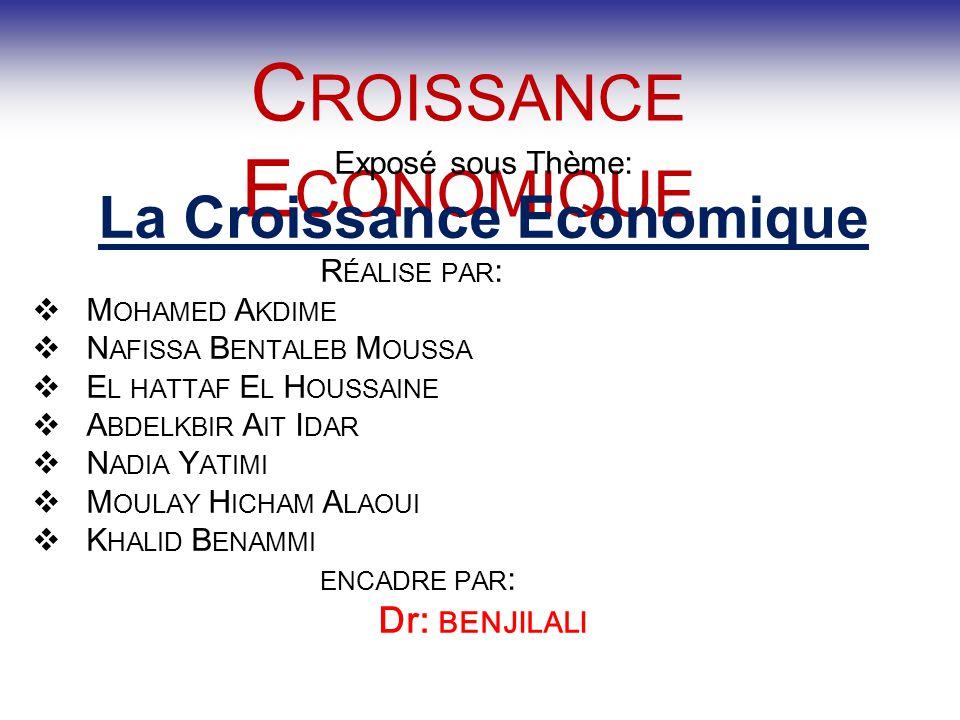 La Croissance Economique