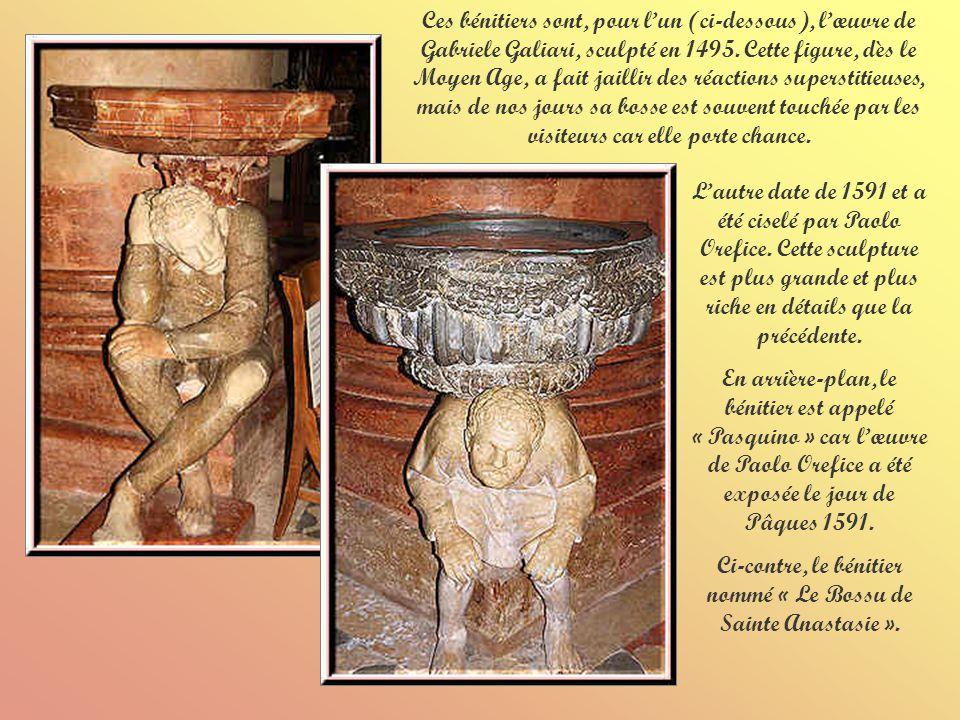 Ci-contre, le bénitier nommé « Le Bossu de Sainte Anastasie ».