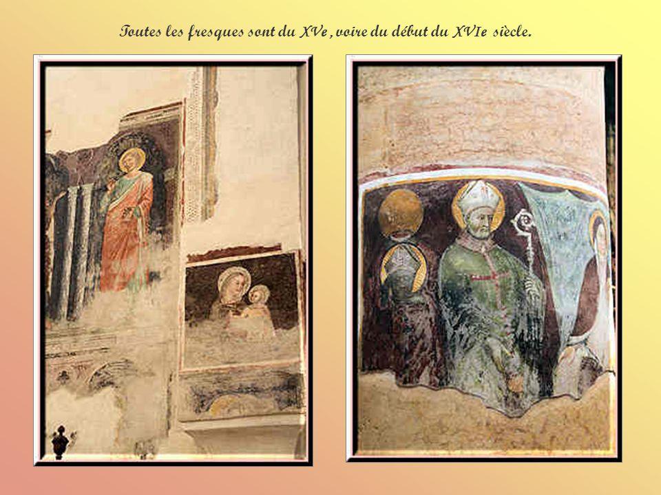 Toutes les fresques sont du XVe , voire du début du XVIe siècle.