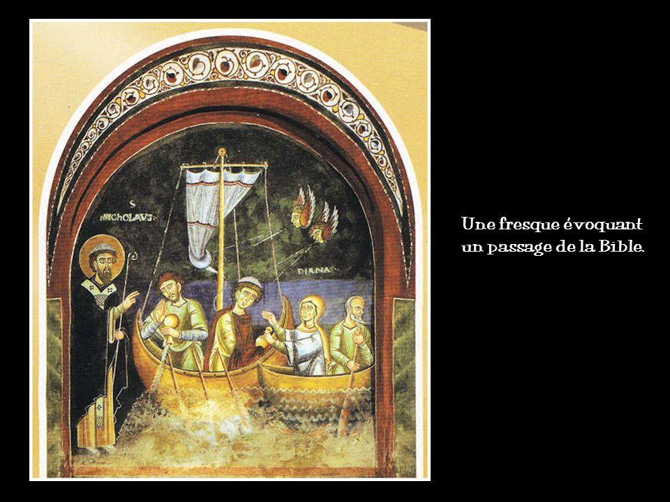 Une fresque évoquant un passage de la Bible.