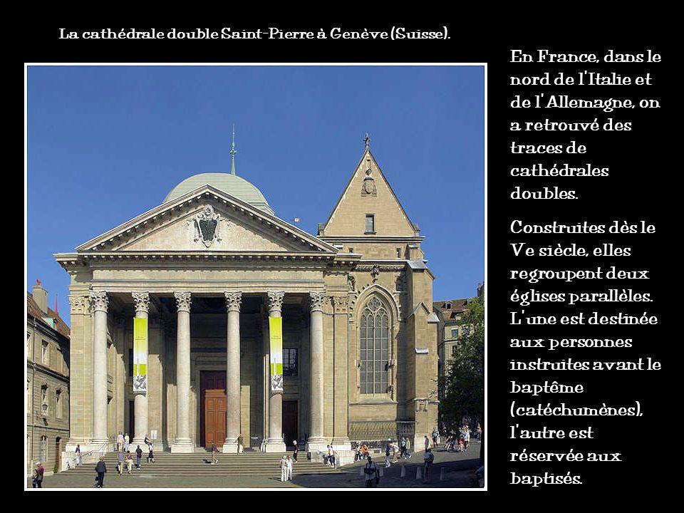La cathédrale double Saint-Pierre à Genève (Suisse).