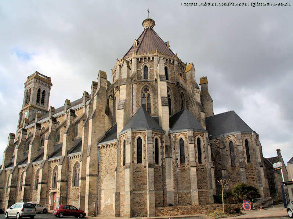 Façades latérale et postérieure de l'église Saint-Benoit