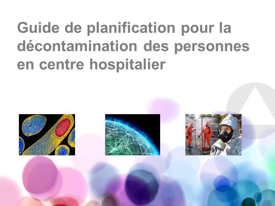Guide de planification pour la décontamination des personnes en centre hospitalier