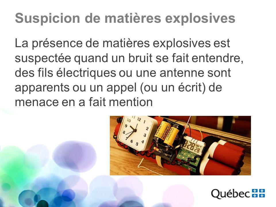 Suspicion de matières explosives