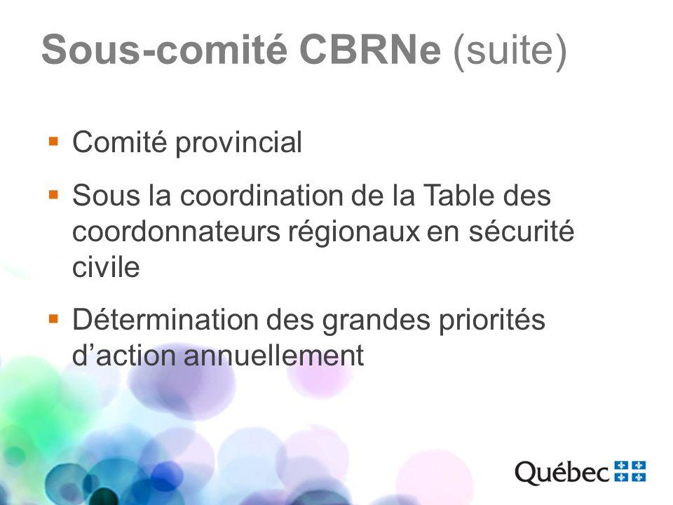 Sous-comité CBRNe (suite)