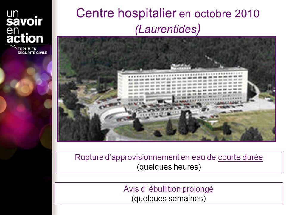 Centre hospitalier en octobre 2010