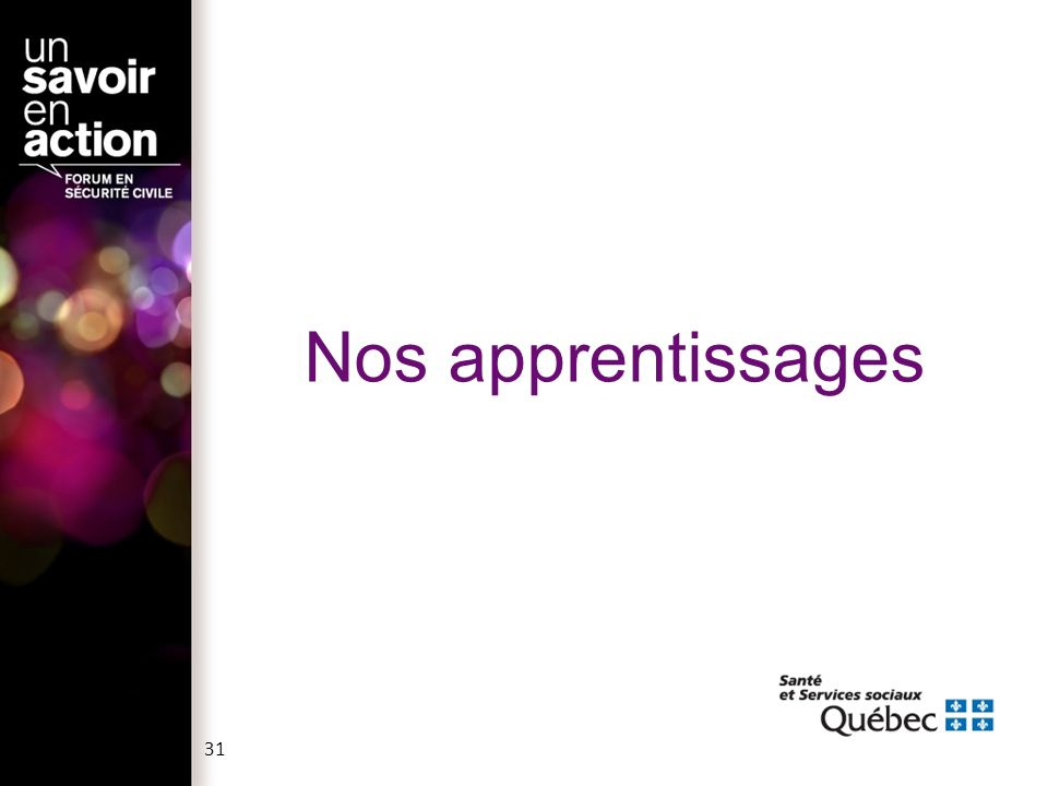 Nos apprentissages