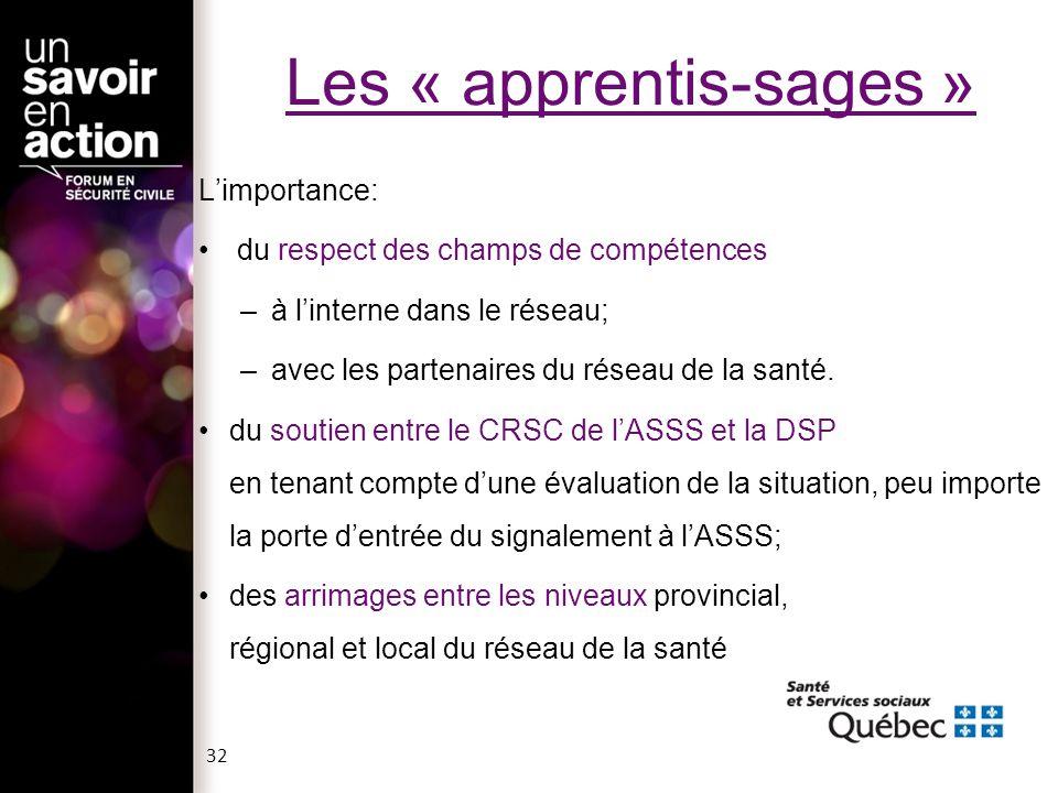 Les « apprentis-sages »