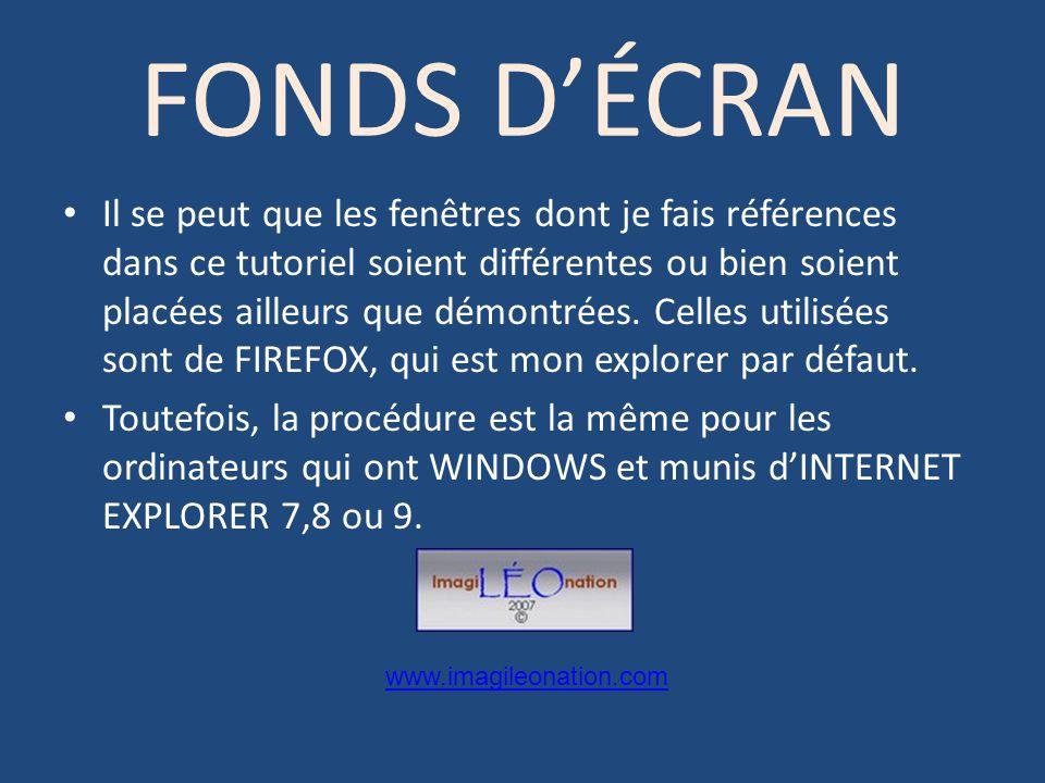 FONDS D'ÉCRAN