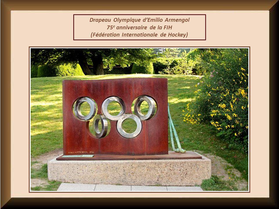 Drapeau Olympique d'Emilio Armengol 75e anniversaire de la FIH
