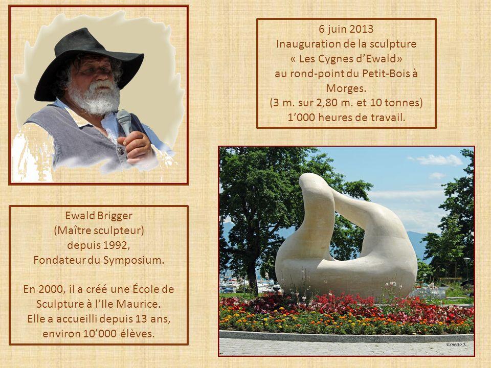 Inauguration de la sculpture « Les Cygnes d'Ewald»