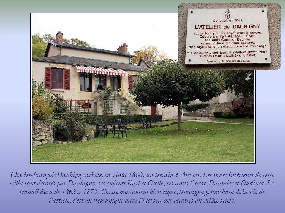 Charles-François Daubigny achète, en Août 1860, un terrain à Auvers