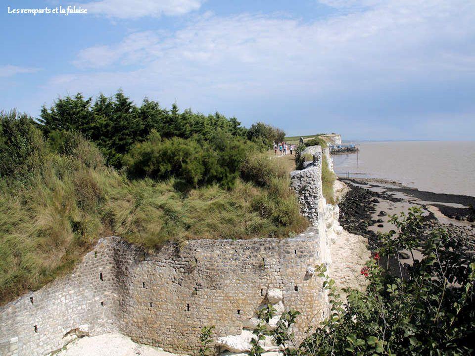 Les remparts et la falaise