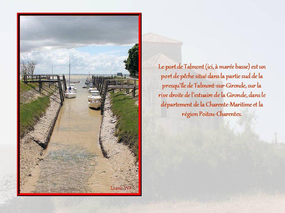 Le port de Talmont (ici, à marée basse) est un port de pêche situé dans la partie sud de la presqu île de Talmont-sur-Gironde, sur la rive droite de l estuaire de la Gironde, dans le département de la Charente-Maritime et la région Poitou-Charentes.