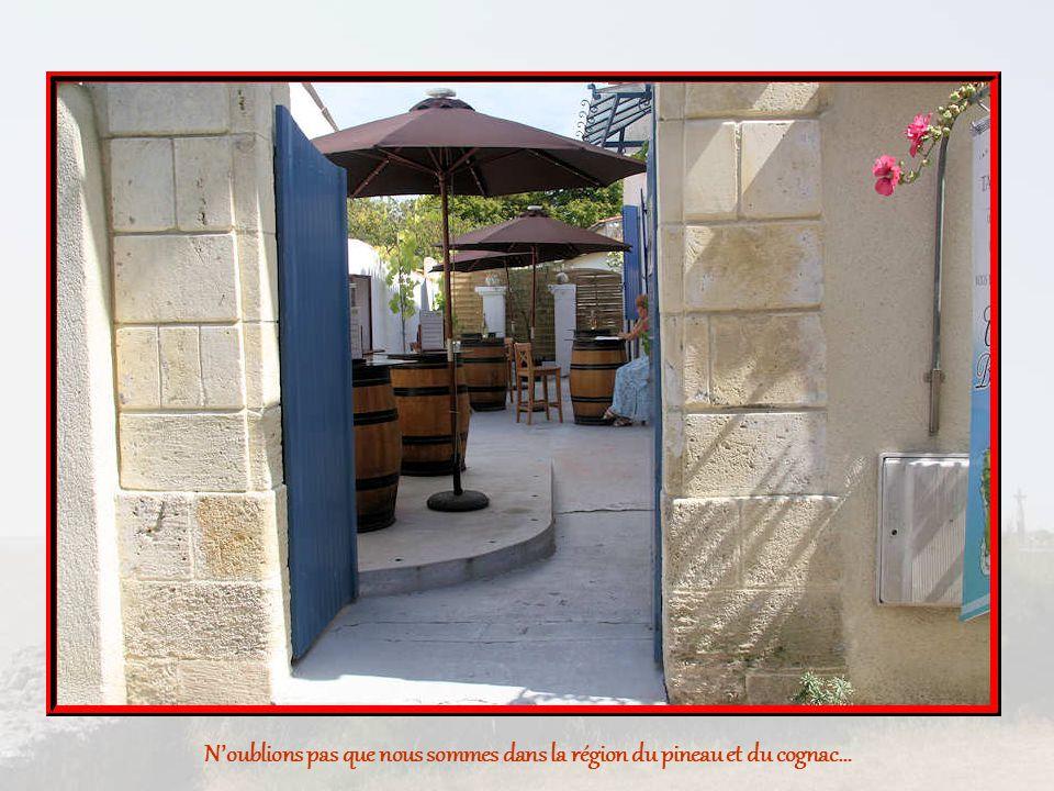 N'oublions pas que nous sommes dans la région du pineau et du cognac…