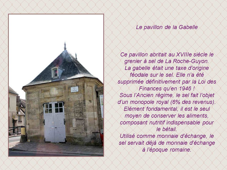 Le pavillon de la Gabelle
