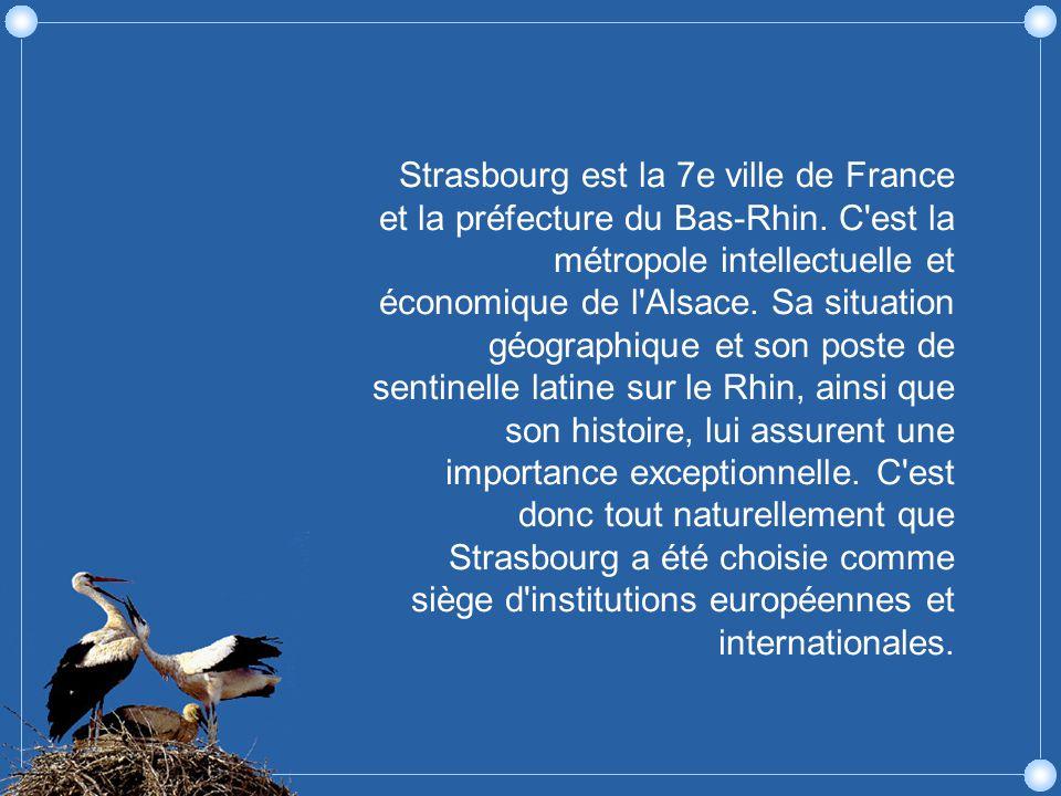 Strasbourg est la 7e ville de France et la préfecture du Bas-Rhin